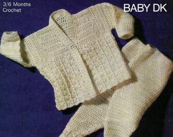 INSTANT DOWNLOAD - PDF - Vintage Pram Set Crochet Pattern (CB23)