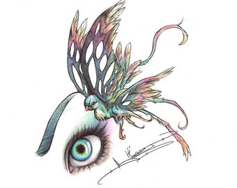 Her Eye on the Sparrow ( Art Print )