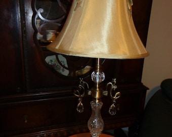 Vintage Crystal Prism Table Lamp