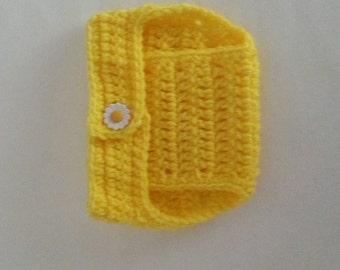 Crochet Diaper Cover in Yellow