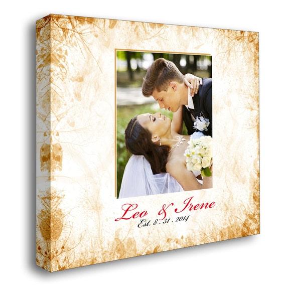 Personalized Wedding Canvas: Canvas Wedding Guest Book Personalized Wedding Photo