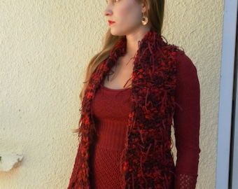 Fancy Red and black scarf