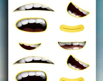Hilaire image in minion mouth printable