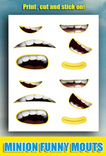 Smart image inside minion mouth printable