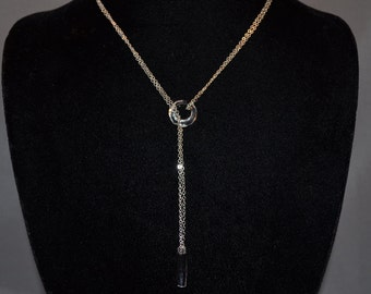 Swarovski Crystal Lariat Necklace, everyday simple necklace, wedding necklace