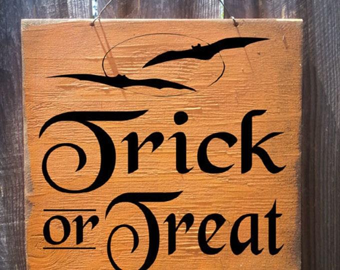 Halloween decor, Fall decor, Halloween Sign, Trick or Treat Sign, Trick or Treat decor, Halloween decoration, holiday sign, fall sign