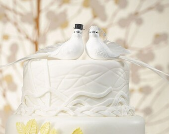 Wedding Cake Topper - Wedding Doves - Bride and Groom Doves - Unique Wedding Favor - Dove Wedding Favor - Favour - Favours - Doves