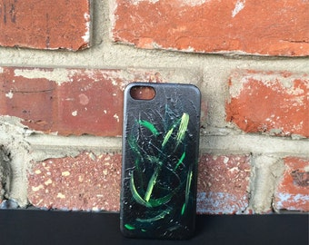 Hand Painted Abstract Art Hard iPhone Case