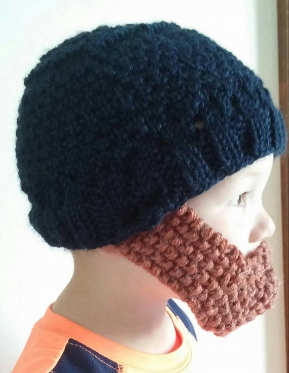 Baby Beard Hat Knitting Pattern : Items similar to Knitted Baby Beard Hat on Etsy