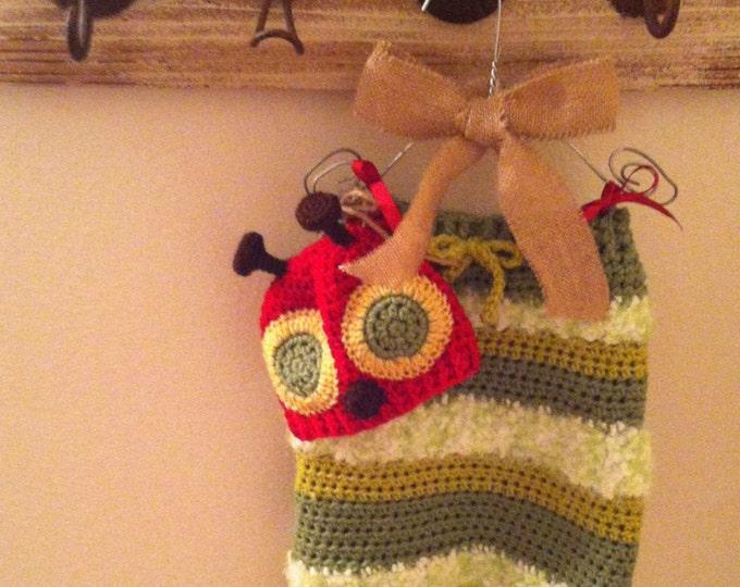 Caterpillar Crocheted Swaddle Set, Newborn Swaddle Set, Photo prop, Halloween Costume, Cocoon