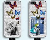 Alice in Wonderland iPhone 5 case iPhone 5S case doctor who iPhone 5C case iPhone4 case iPhone4S case Disney Alice Samsung Galaxy S3 S4 - TA