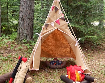 Tee Pee Tent - Felt, Dramatic Play, Imagination Play, Pretend Play