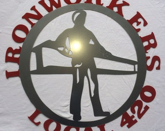 Custom Ironworkers sign