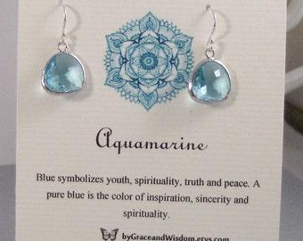 Aquamarine,Earrings,Blue Earrings,Aqua Stone,Aquamarine Earrings,Birthstone Earrings,Aquamarie Birthstone,Birthstone,Aquamarine Earrings