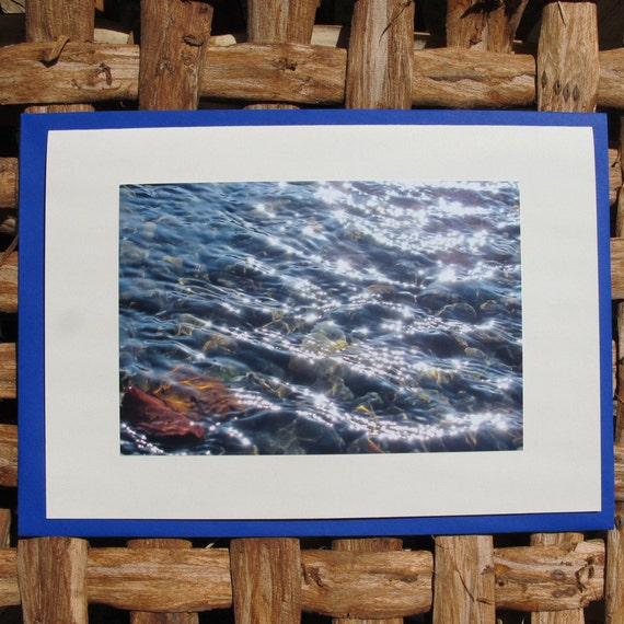 Greeting card with photo. Sunripples 4