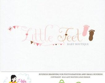 Premade Custom Little Feet Baby Boutique Logo Design – LD011