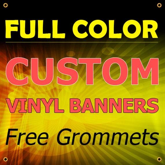 Full Color Custom Printed Banner Indoor Outdoor