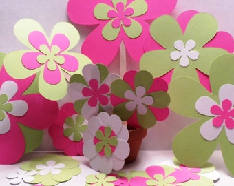 Scrapbook Assorted Flowers-Flowers, Die Cut Flowers, Scrapbook Flowers, Scrapbooking, Decorations, Embellishments-#DCFA-11