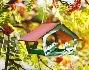 Bird feeder - wooden bird feeder - garden decoration - hanging bird feeder - large bird feeder - birdfeeder - handmade - handcrafted
