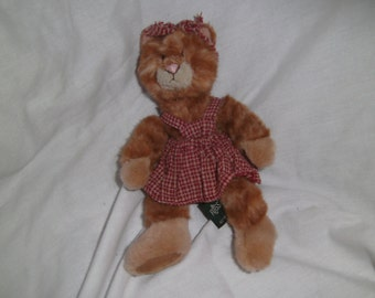 "Russ Berrie - Kitra soft toy beanie Kitten/Cat - 8"" H"