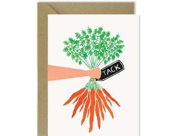 Swedish thank you card - Tack carrot bunch!