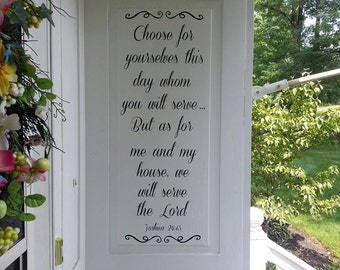 But As For Me And My House We Will Serve The Lord-  Joshua 24:15 Wall Decal