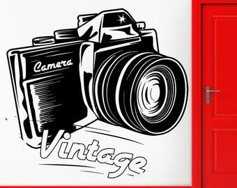 Wall Sticker Vinyl Decal Vintage Camera Photo Memory Cool Decor (z2450)