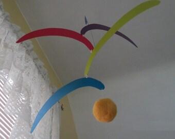 Montessori Inspired Rainbow Baby Mobile, Baby Mobile, Rainbow Mobile, Nursery Mobile, Shower Gift