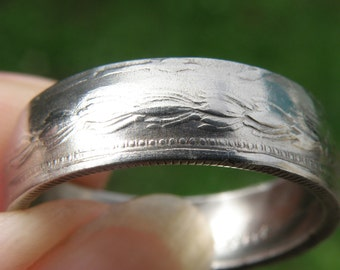 1964 Persian Iran Coin Ring double sided. Birthday anniversary 5 Rials  # CR 11