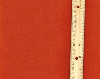 Rust Color Fabric, Rust Orange fabric, Fabric by the Yard,  woven cotton fabric, sewing fabric, quilting fabric
