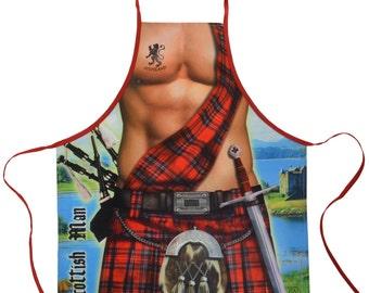 Scottish Man Kilt BBQ Kitchen Novelty Apron - Free Shipping