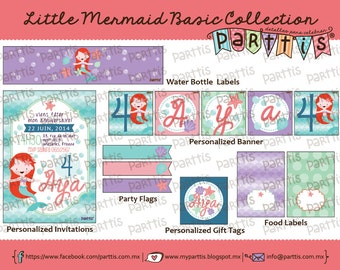 Little Mermaid Party Printable Collection BASIC