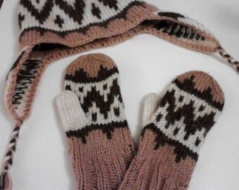 Late 70s Handmade hat and matching gloves