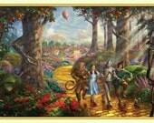 Items Similar To Thomas Kinkade Wizard Of Oz Yellow Brick
