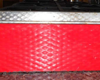 Vintage Red Tin Loaf Pan
