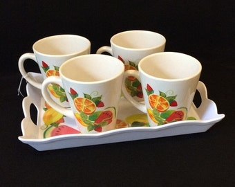 Alco Mugs with Tray Summer Fruit