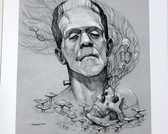 Frankenstein's Monster Archival Print