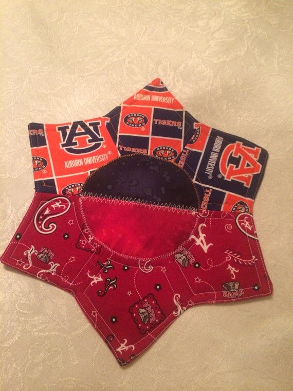 Bama Auburn House Divided Quilted Mug Rug Or Snack Mat Free