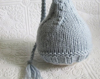 Braided Tassel Hat - Knitting Pattern - Newborn