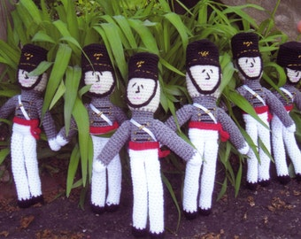 USMA, West Point cadet crocheted doll