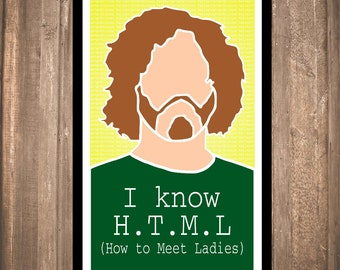 "INSTANT DOWNLOAD - Silicon Valley ""I Know H.T.M.L."" Print"