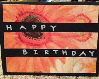 Happy Birthday unique floral card