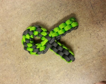 Paracord Cancer Awareness Keychain
