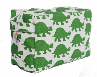Green Turtle Cosmetic Bag