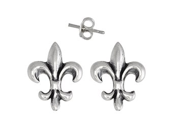 Sterling Silver .925 Fleur De Lis Pin Earring | Made in USA