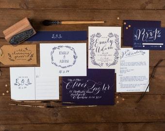 Hedgerow Wedding Invitation Sample Pack