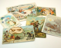 Victorian Trade Cards Vintage Instant Collection of 6 Advertisement Cards Arbuckle Coffee