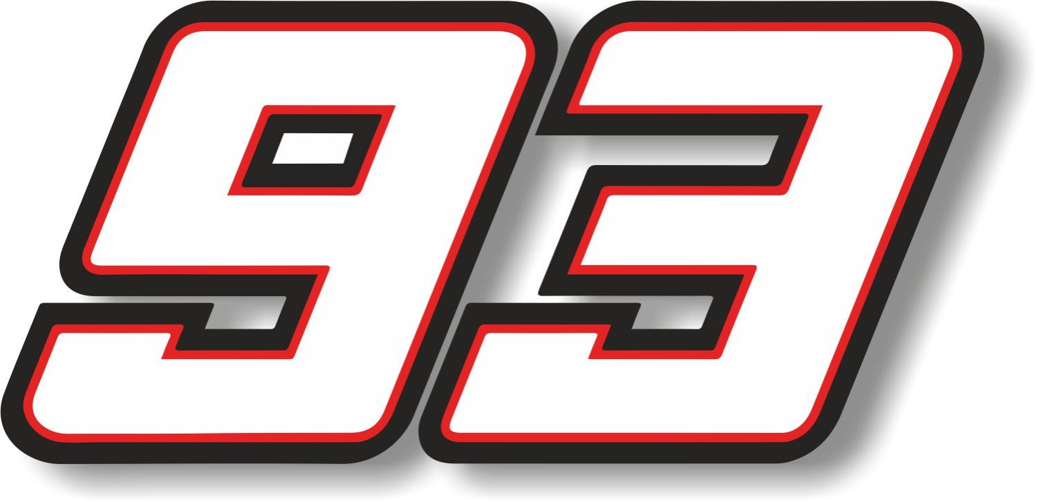 vinyl sticker decal riders race number marc marquez 93. Black Bedroom Furniture Sets. Home Design Ideas