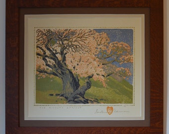 The Bishop's Apricot Mission Style Framed Art in Quartersawn Oak
