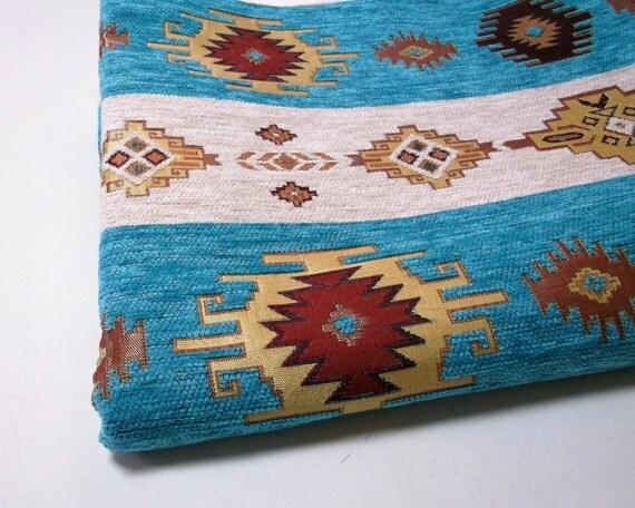 tissu d 39 ameublement de style tribal ethnique chenille par. Black Bedroom Furniture Sets. Home Design Ideas